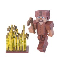 Steve with Leather Armor Pack - Minecraft - Jazwares