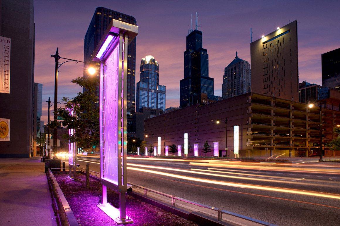 Jb Electric Lighting And Design Congress Parkway Streetscape John Burns Construction