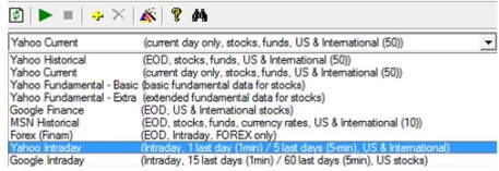 historical stock market data for Amibroker using Amiquote