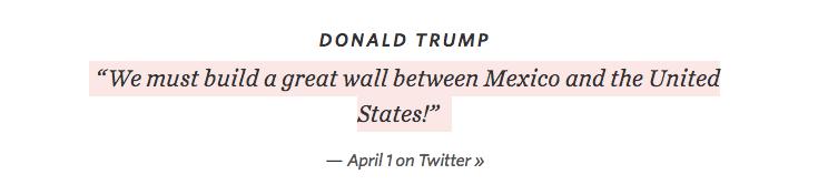 donald trump build a wall