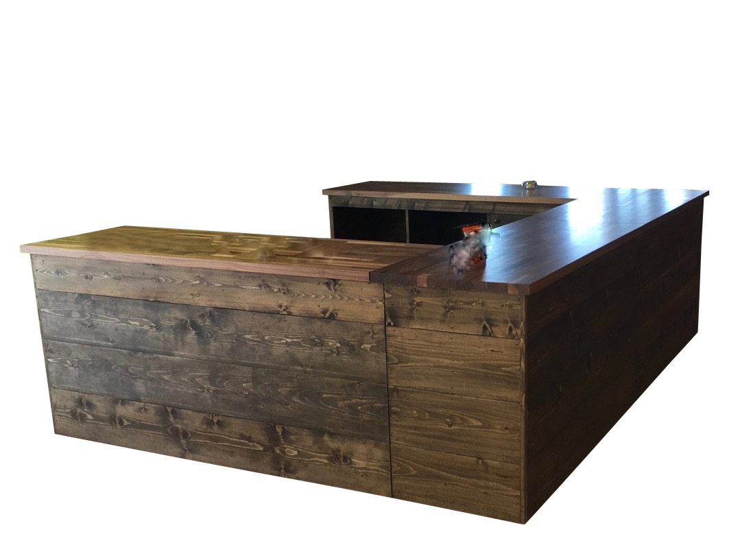 Sale Counter Design Rustic Wood Retail Store Product Display Fixtures