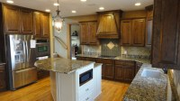 Cherry stained kitchen cabinets- Poplar in the kitchen ...