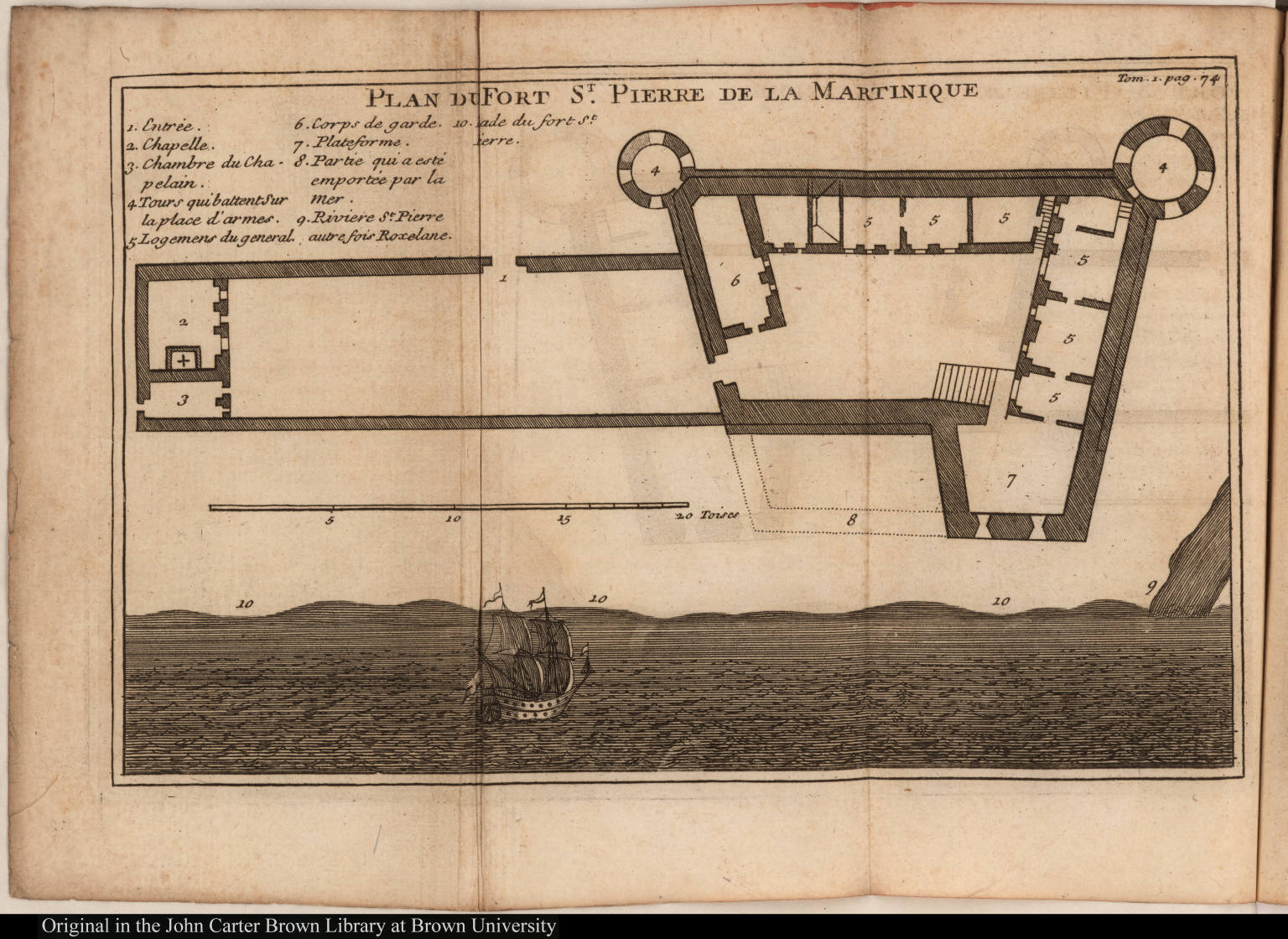 Pierre De Plan Plan Du Fort St Pierre De La Martinique Jcb Archive Of Early
