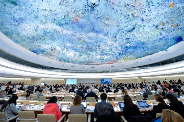 On July 23, 2014, the UN Human Rights Council issued a resolution condemning Israel. The resolution did not mention Hamas once. (UN/Jean-Marc Ferré/Flickr)