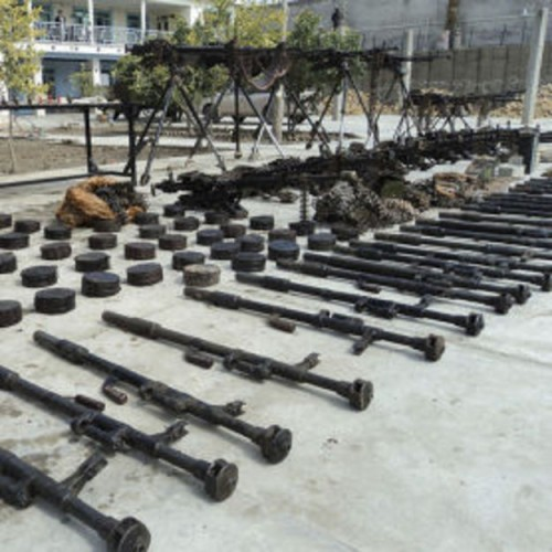 Iranian weapons recovered in an ISAF raid on February 5, 2011, in Nimruz province, Afghanistan.
