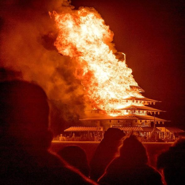 The Temple on Fire