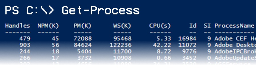 PowerShell Process Wrangling with Get-Process - jcutrer