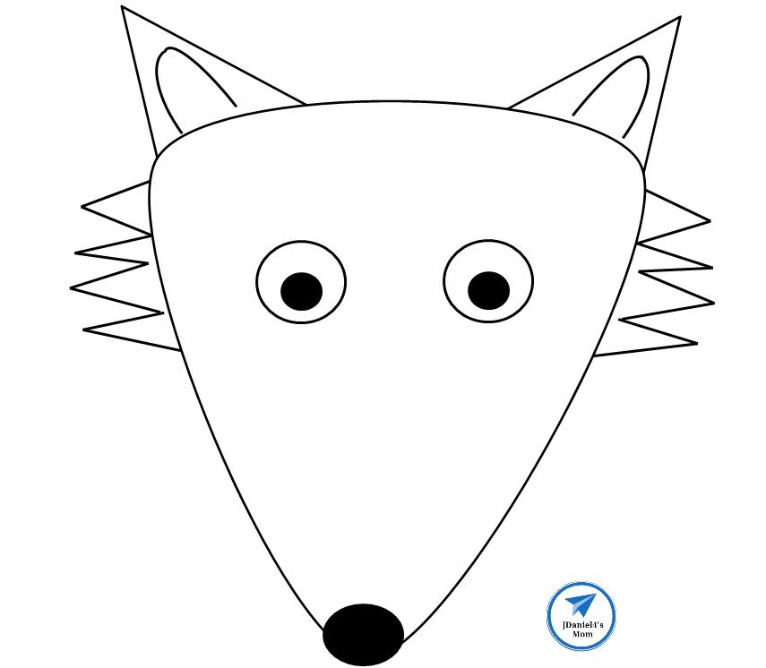 Fox Paper Bag Puppet Template - JDaniel4s Mom