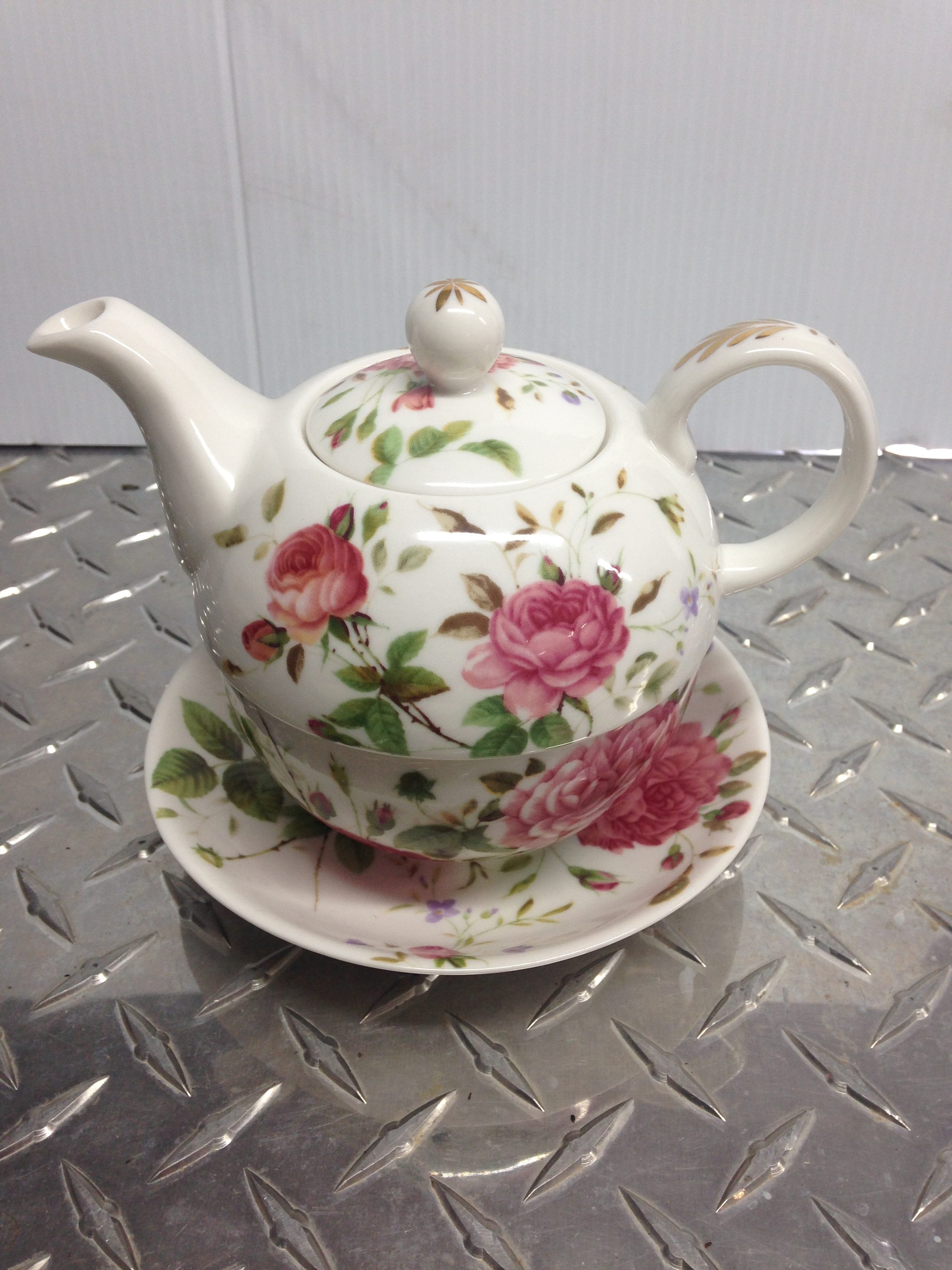 Teapot With Cup Teapot Cup Two In One