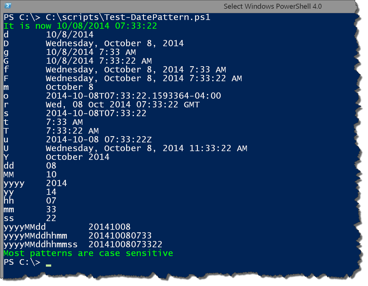 Powershell Dates Times And Formats