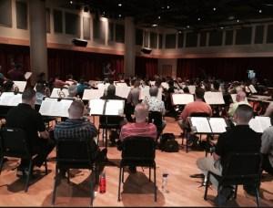 Richmond Symphony practicing WINGS