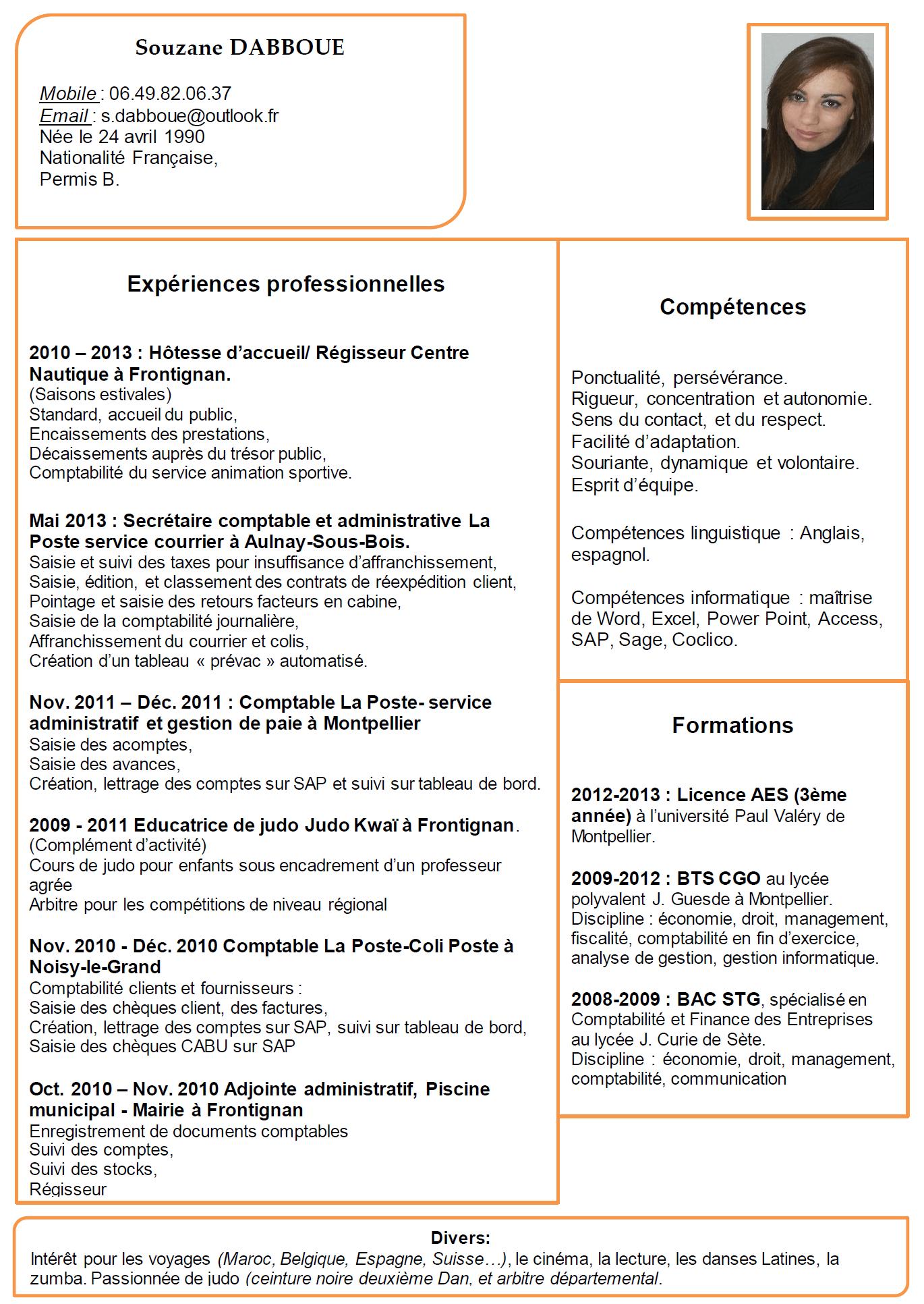 competences cv secretaire juridique
