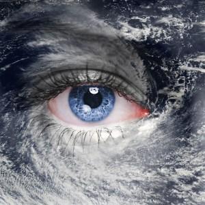 Eye of the storm hurricane