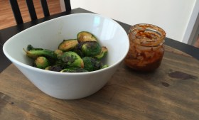 ::Brussels Sprouts with Spicy Ranch Sauce::