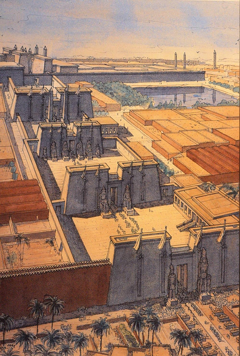 3d Pyramid Wallpaper Karnak Jean Claude Golvin