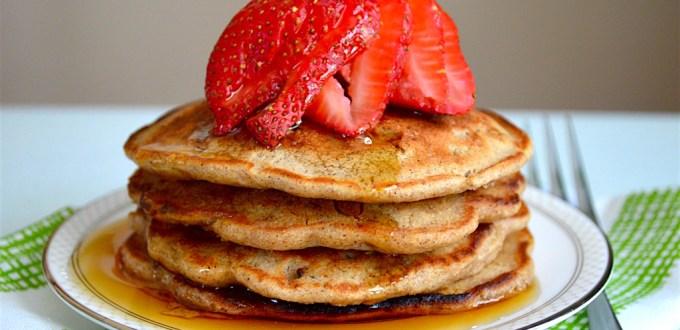 Strawberry Granola Pancakes