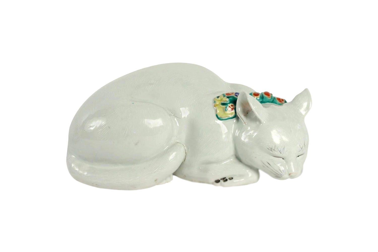 Boutique Art Et Decoration Cat In Japanese Porcelain Chez Perret Et Vibert Circa 1880