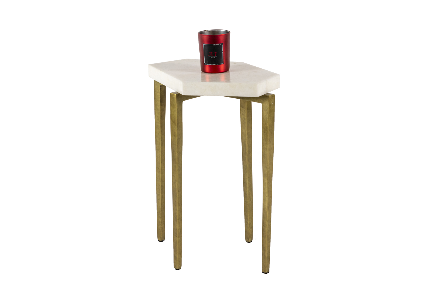 Pair Of End Tables In Rock Crystal Contemporary Work