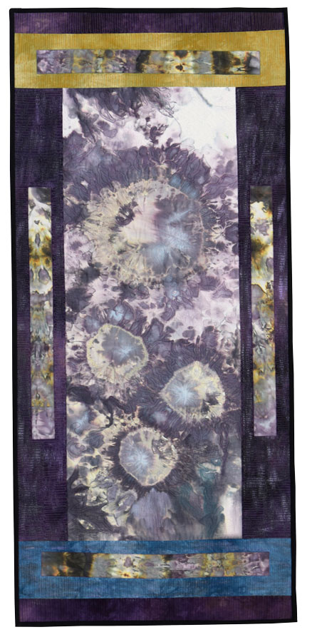 "Blooming (Purple)  51"" h  x  23"" w, SOLD"