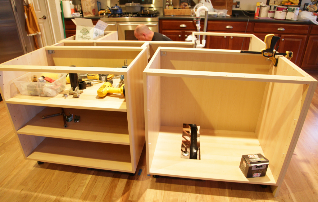 Building A Kitchen Island With Ikea Cabinets Ikea Hack {how We Built Our Kitchen Island} - Jeanne Oliver