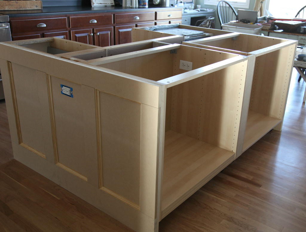 Kitchen Island Cabinets Both Sides Ikea Hack How We Built Our Kitchen Island Jeanne Oliver