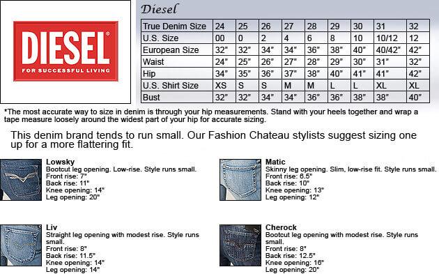 Diesel Jeans Size Chart Jeans Hub