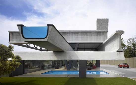 exterior view house concrete pool modern concrete homes designs plans trend home design decor