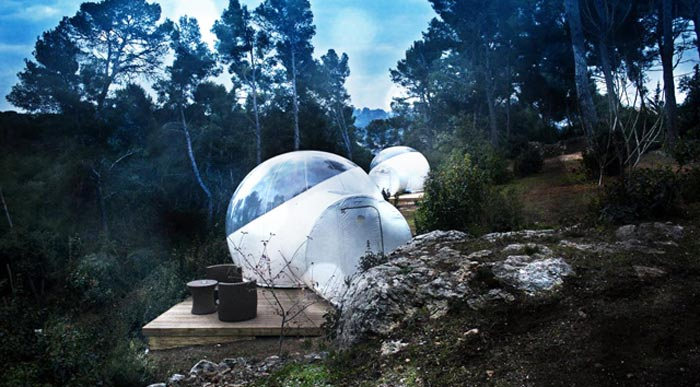 Sofas Just You Attrap'rêves Bubble Hotel In France- Made Of Transparent