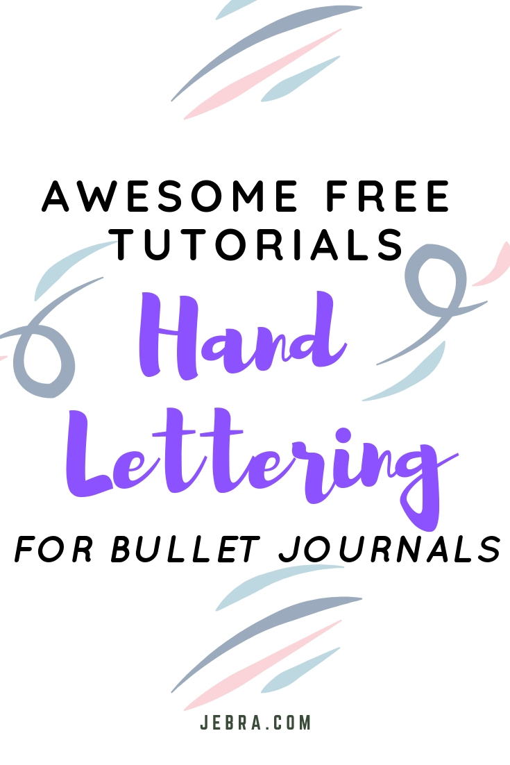 Calligraphy For Beginners Online Learn Hand Lettering In 2019 Free Bujo Tutorials