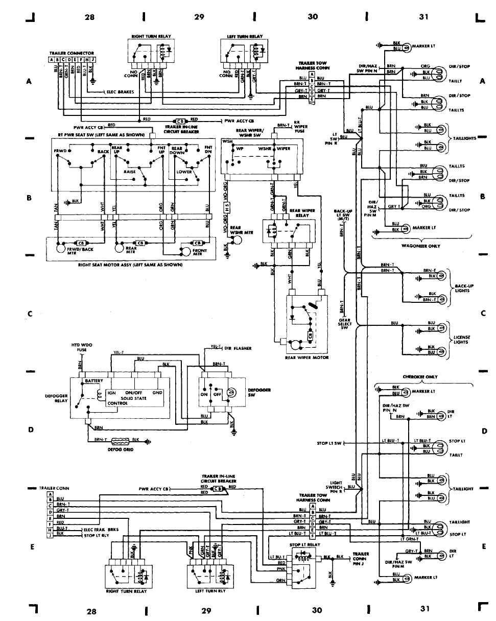 2001 jeep cherokee horn wiring diagram