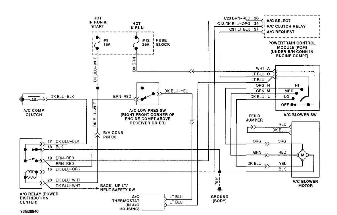 94 jeep wrangler wiring schematic