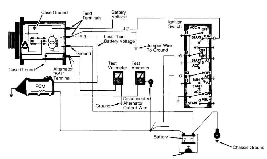 jeep xj alternator wiring