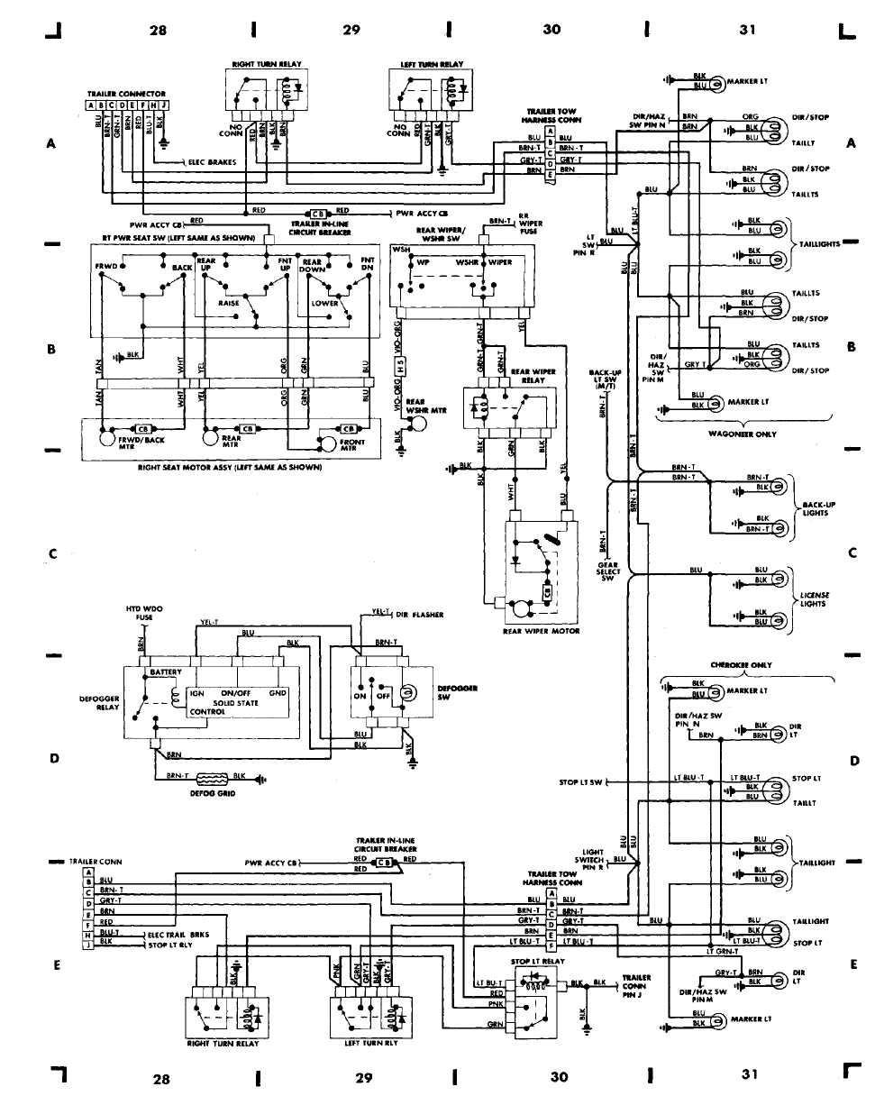 91 jeep cherokee wiring diagram