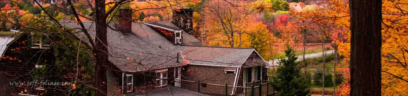 In New England's Connecticut, Litchfield hills you see the landscape transform into a tapestry of fall color