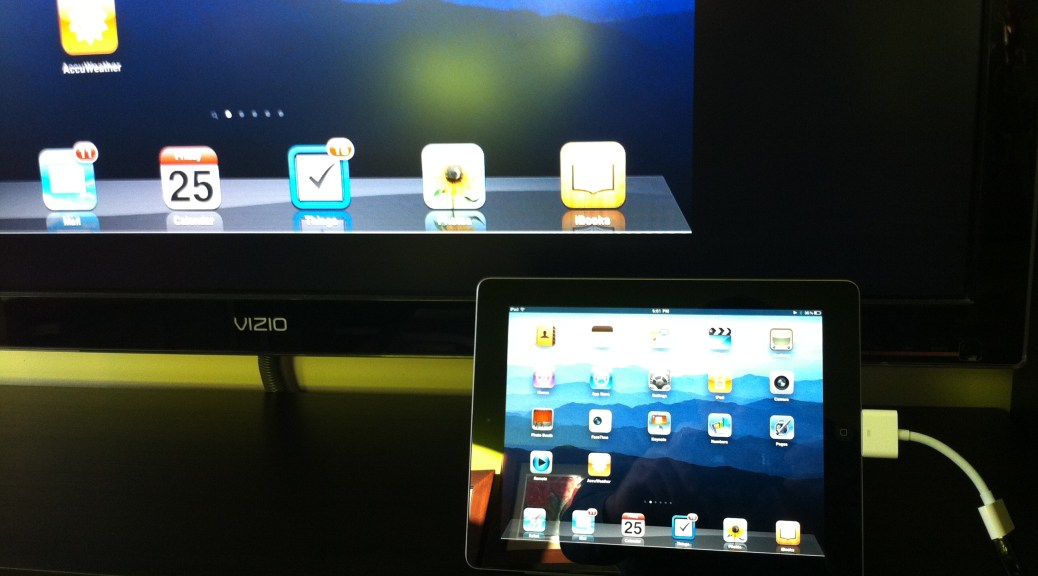Mirroring iPad 2 display to the TV