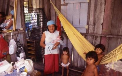 Newborn and Midwife, Manaus