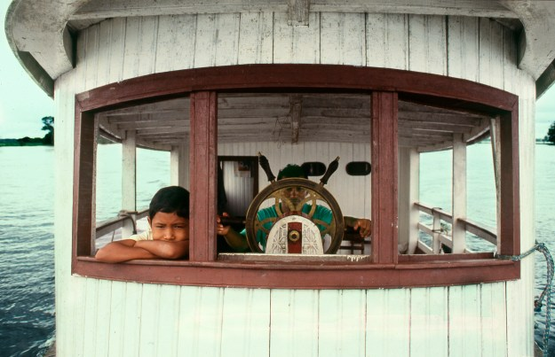 Claudio and Son on Boat