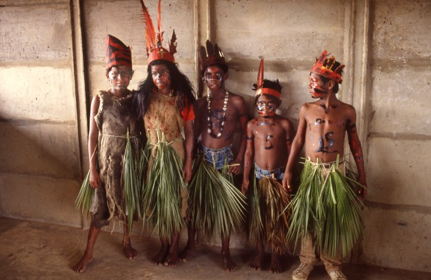Indian Children Dressed as Indians for School Play, Autazes