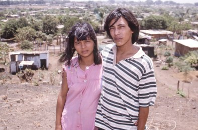 Teenage Couple in Shantytown Next to US Embassy, Managua