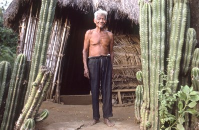 Farmer at Home in Countryside