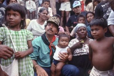 Ortega Campaigning with Indigenous Miskitos Caribbean Coast
