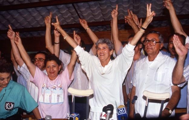 Mrs Chamorro Victory Rally, Night of Election Returns