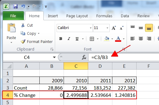 Add Excel Chart Percentage Differences « Jeff Prom\u0027s SQL Server Blog