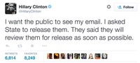 clinton email tweet feature