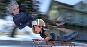 (From left) Jack Frost (Chris Pine) keeps up with Jamie (Dakota Goyo).