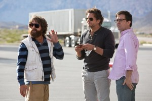 "Melinda Sue Gordon/Warner Bros. Pictures Alan (Zach Galifianakis), Phil (Bradley Cooper) and Stu (Ed Helms) in ""The Hangover Part III."""