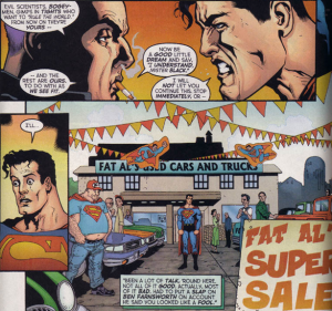 Manchester Black threatens Superman