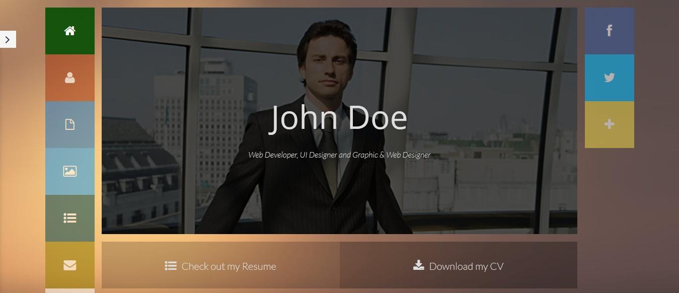 biopic responsive resume html5 template free download