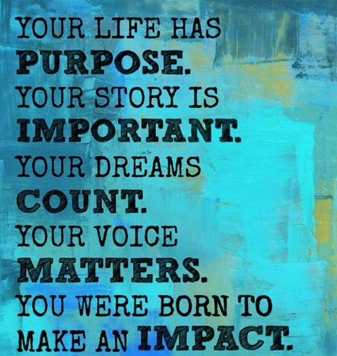 PURPOSE LIFE WERE BORN TO MAKE IIMPACT