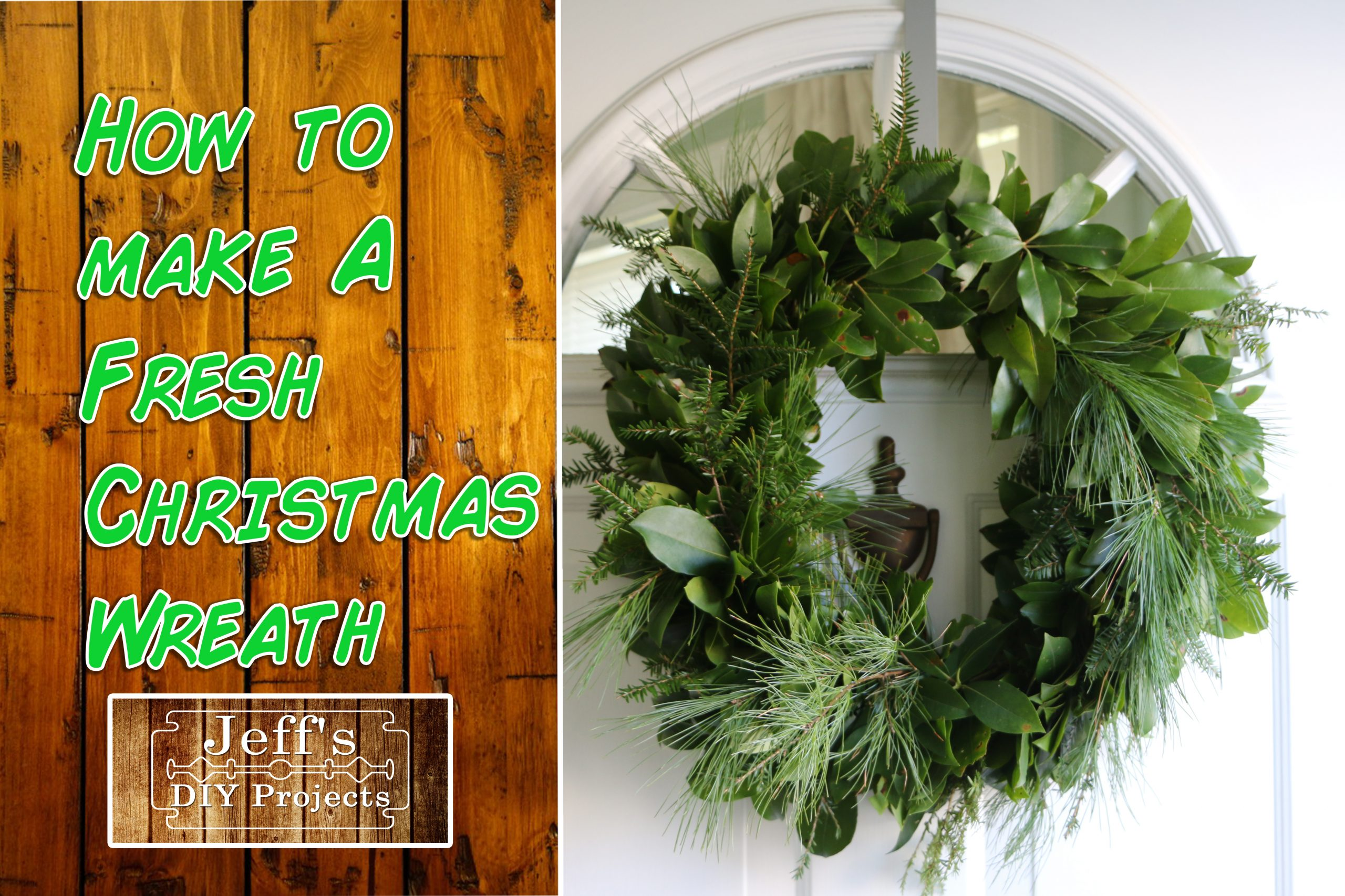 How to make a fresh Christmas wreath